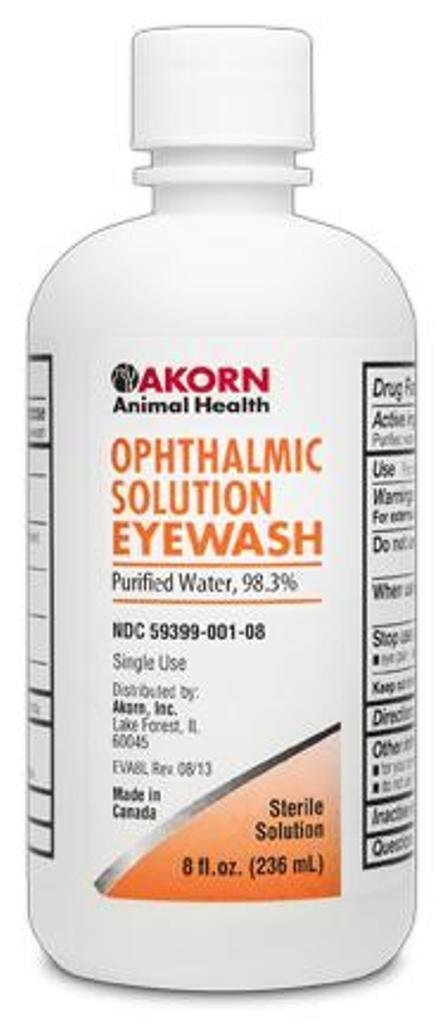 Akorn, Inc Opthamlic 98.3% Pure Eye Wash Animal Health 4 oz Veterinary Dog,New