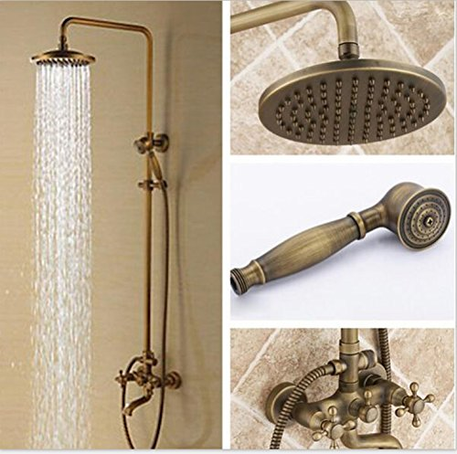 Bathroomacccesories Faucet Shower tap F6Hot and cold shower shower set faucets _ hot-selling antique rustic bathroom in wall concealed hot and cold,European copper antique shower Kit