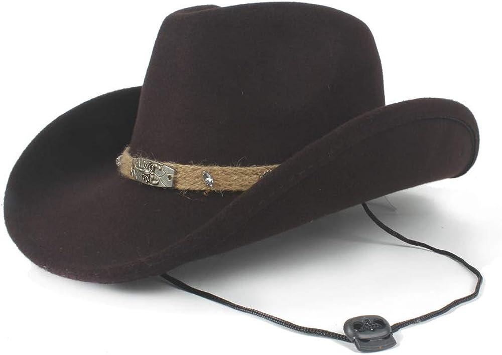 MISSMARCH Fashion Women Men Wool Empty Westerly Cowboy Hat for Gentleman Roll Up Brim Sombrero Jazz Cap Dad Hat Fishing Bike Holiday Beach Big hat Sun Sun Shade s