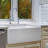 """white kitchen sink Finefixtures Sutton 30"""" Fireclay sink"""