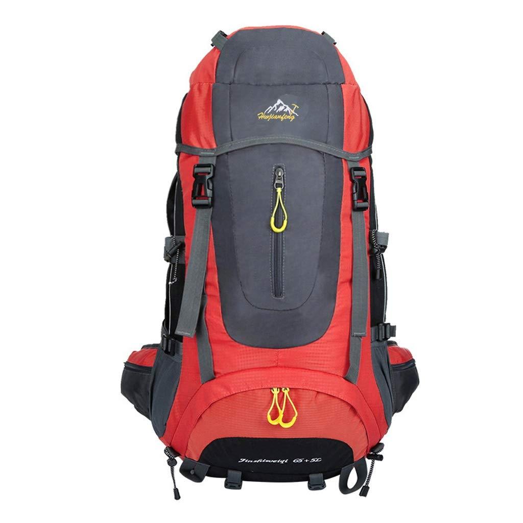 Gaorb 56-75L Zaino da Trekking Zaino Impermeabile Zaino da Montagna Zaino Sportivo Alpinismo Campeggio Pesca Turismo Equitazione Sci ( Colore   rosso )