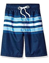 Kanu Surf Boys Archer Stripe Quick Dry Beach Board Shorts Swim Trunk