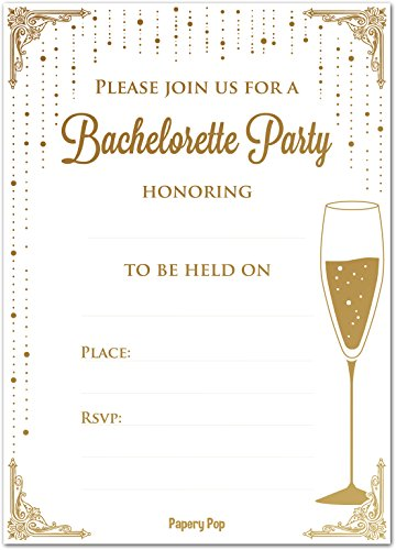 Bachelorette Party Invitations Envelopes Count product image