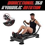 BOUDECH-Vogatore-da-Fitness-Idraulico-Ultra-Silenzioso-con-Resistenza-Magnetica-su-4-Livelli-e-Rotazione-Bidirezionale-di-360
