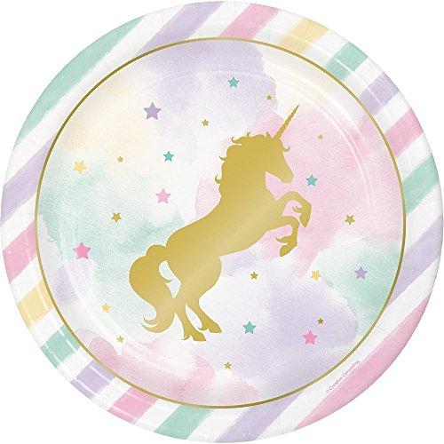Creative Converting Unicorn Sparkle Paper Dinner Plates (24 Count)