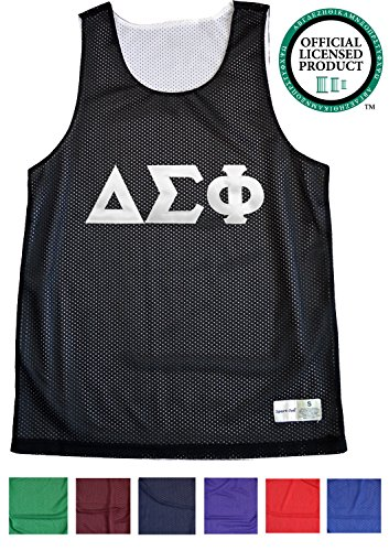 DELTA SIGMA PHI Unisex Mesh DSP Tank Top. White Sewn Letters, Various Colors