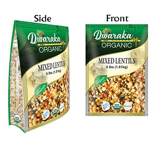 - Dwaraka Organic Mix Dal Lentil - USDA Organic (4 lbs / 1.81 kg)