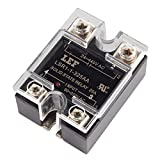 Uxcell a15111100ux0292 Solid State Relay Module, SSR-25AA AC-AC 25A 80-250VAC/24V-380VAC