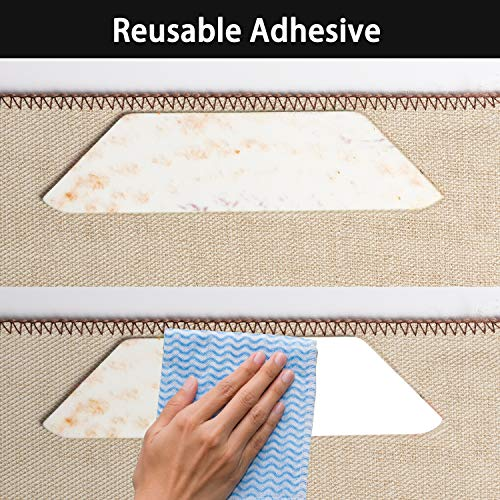 Anti Curling Rug Gripper, Non Slip Rug Pad 8 pcs for Area Rugs Pad, Double Sided Tape Work for Indoor & Outdoor Carpet Mat by IDEALCRAFT (Image #1)