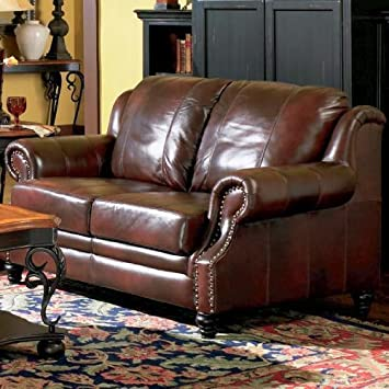 Tremendous Amazon Com Princeton 100 Top Grain Leather Loveseat In A Uwap Interior Chair Design Uwaporg