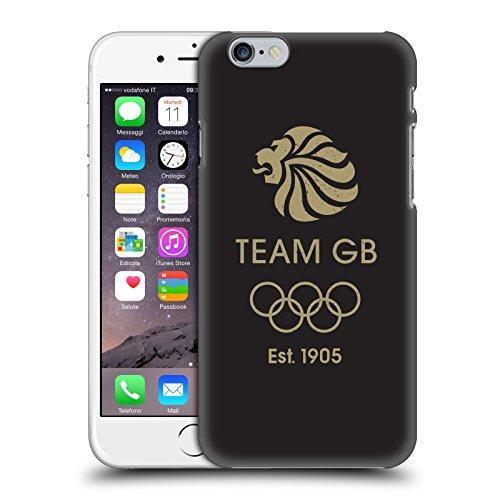 Official Team GB British Olympic Association EST Gold on Black Logo Hard Back Case for Apple iPhone 6 / 6s