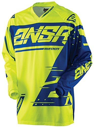 Answer Racing A18 Syncron Youth Boys Off-Road Motorcycle Jerseys - Yellow/Blue / Large by Answer