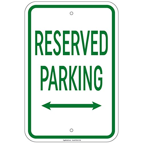 Sign Double Arrow (Reserved Parking with double arrow Sign 8