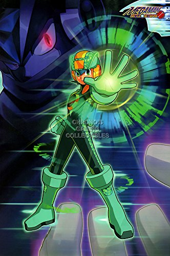 CGC Huge Poster GLOSSY FINISH - Mega Man Battle Network 1 2 3 4 5 6 Nintendo GBA DS Megaman Rockman - EXT822 (24