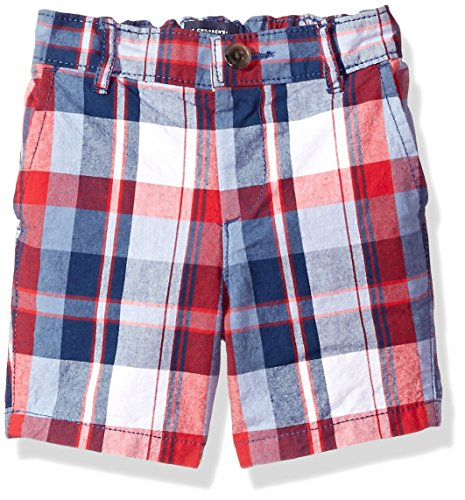 The Childrens Place Baby-Boys Lil Guys Plaid Flat Front Shorts