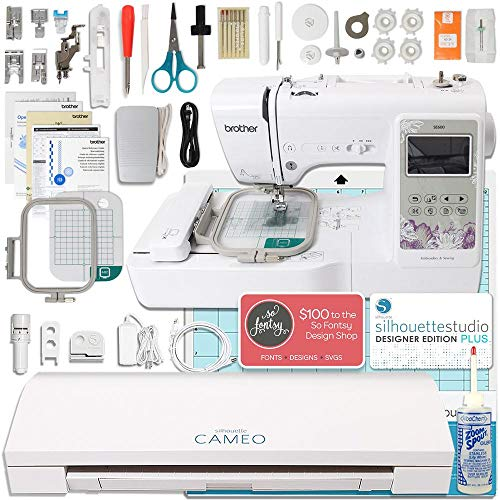 lus Brother Embroidery Machine Bundle with Designer Edition Plus ()