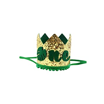 Amosfun ONE first 1st Birthday crown hat Carnival Jungle themed 1st first Birthday party favors supplies decorations