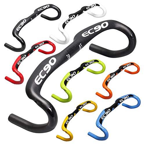 - EC90 Bike Carbon Road Handlebar Bicycle Internal Bent Bar 31.8mm Racing Handlebars Multiple Colors Drop Bars (White, 440MM)