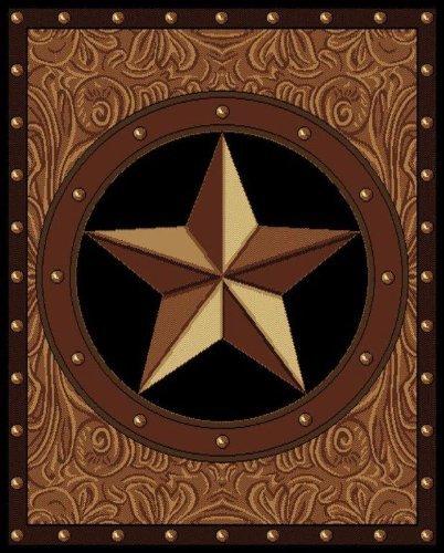 (United Weavers Legends Area Rug 910-04950 Ranch Star Black Western Star 3'3