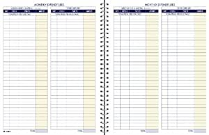 Adams Bookkeeping Record Book, Monthly Format, 8.5 x 11 Inches, White (AFR71)