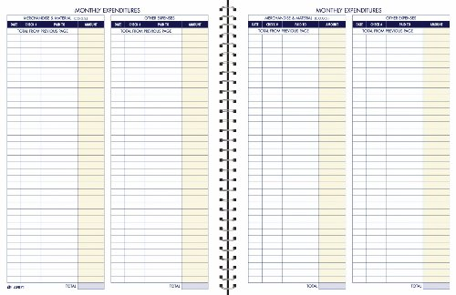 Adams Bookkeeping Record Book, Monthly Format, 8.5 x 11 Inches,