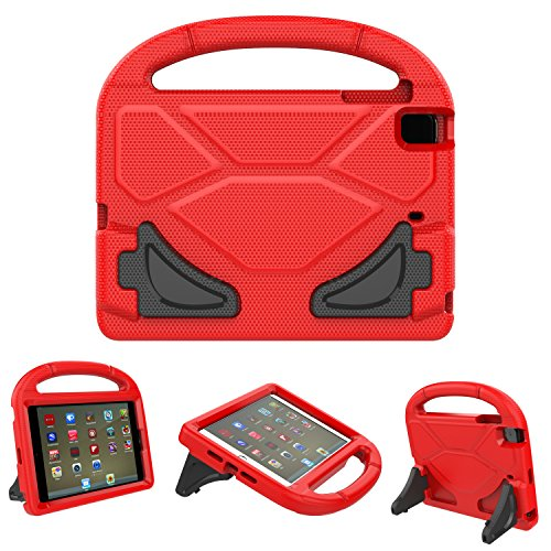 iPad Mini Case, iPad Mini 2 / Mini 3 / Mini 4 case, Ubearkk [Shockproof] Case Light Weight Kids Friendly Case Super Protection Cover Handle Stand Case for Apple iPad Mini 1 / 2 / 3 / 4 (Red)