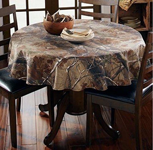 Realtree Design Imports AP Cotton Tablecloth Camouflage Print 56-Inch Round]()