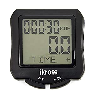 Wireless Bike Computer, iKross Cycling Water Resistant Wireless Digital Backlight Bicycle Multi Functional Odometer Speedometer