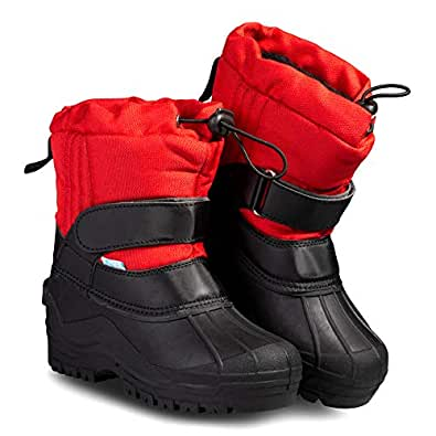 ZOOGS Kids Snow Boots for Toddlers, Boys, and Girls Size: 1 Little Kid