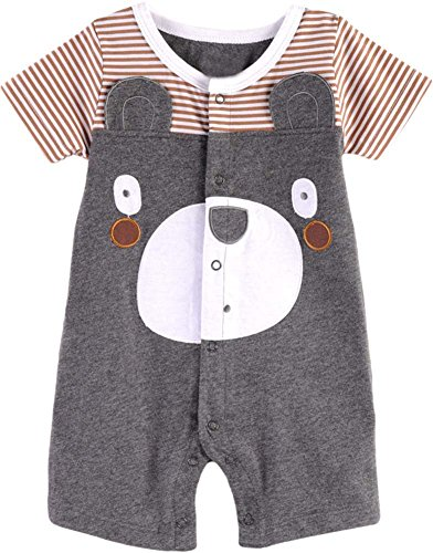 Fiream Baby Boys Summer Short Sleeve Animals Romper