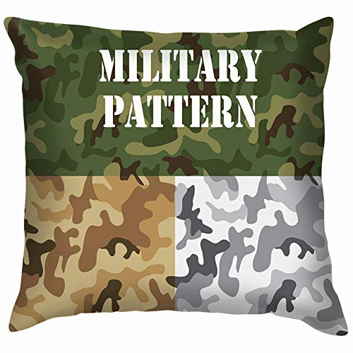 Military Camouflage Textile Garment Tshirt Beauty Fashion Throw Pillows Covers Accent Home Sofa Cushion Cover Pillowcase Gift Decorative 12X12 Inch