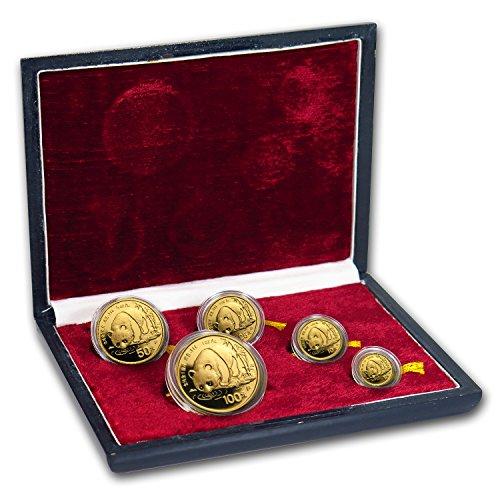 Panda Coin Set (CN 1987 China 5-Coin Gold Panda Proof Set (In Original Box) Brilliant Uncirculated)