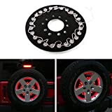 JeCar 25 LEDs Spare Tire Third Brake Lights Accessories for Spare Tire For Jeep Wrangler JK 2007-2016 Red Light(B Style)