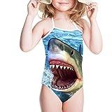 girls shark swimsuit - Showudesigns Swimsuit One Piece Swimwear Cool Shark Bathing Suit for Girl 4t Blue