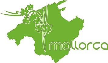 Mallorca Karte Umriss.Grazdesign 630298 30 063 Wandtattoo Wohnzimmer Sticker