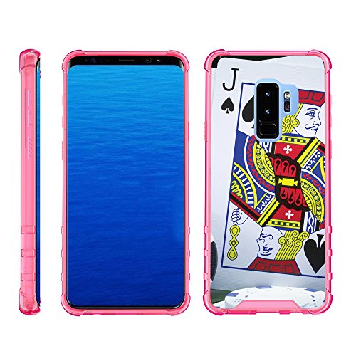 (TurtleArmor | Compatible for Samsung Galaxy S9 Case | G960 [Flexible Armor] Slim TPU Hard Plastic Back Cover Shock Bumper Case with Pink Edges Gambling Casino Design - Blackjack)