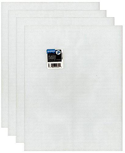 4-Pack of Darice Mesh Plastic Canvas - Clear - 10.5 x 13.5