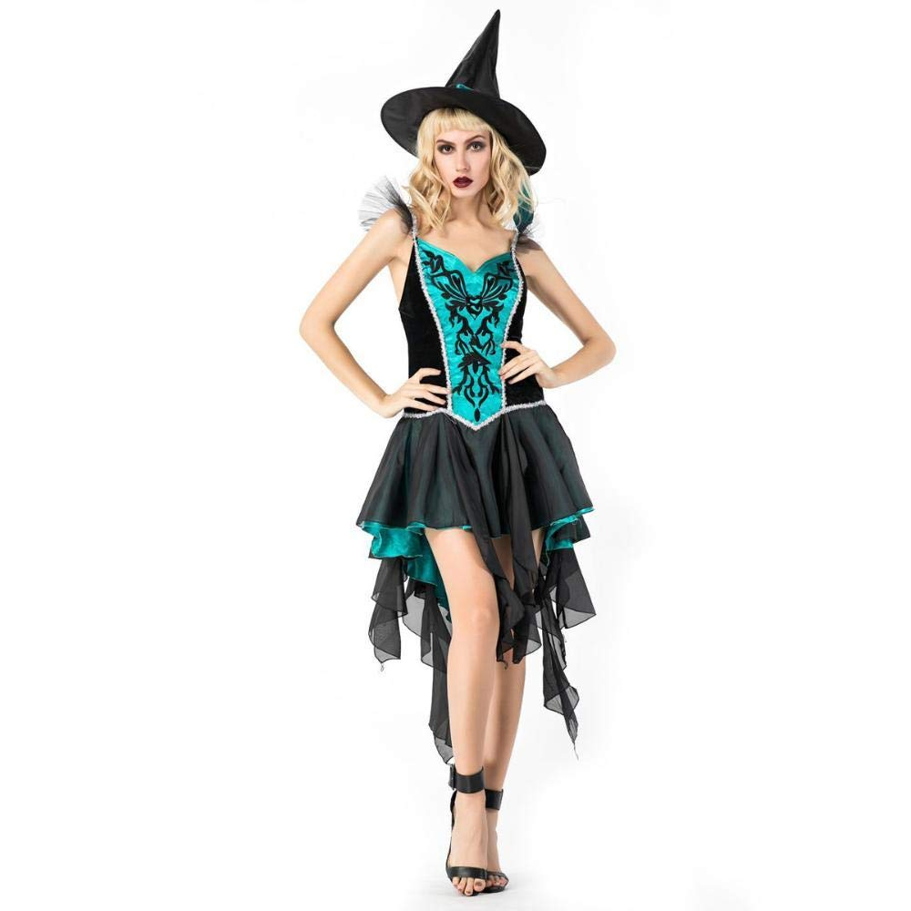 Yunfeng Witch Costume Halloween Costume Adult Cosplay Witch Vampire Demon Role Dress Stage Performance Costume