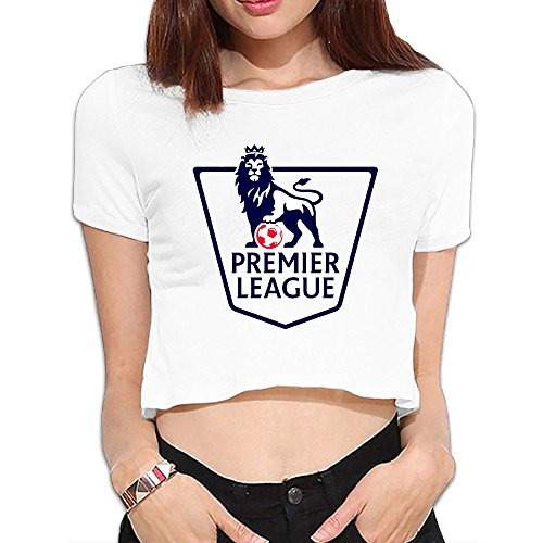 TLK Custom Women Barclays Premier League Logo Cotton Crop Top
