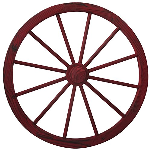 Leigh Country TX 93930 Wagon Wheel, 30 Inch, Red Wash