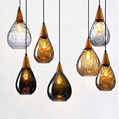 (BOSSLV Pendant Lamps Lights Vintage Iron Spider Pendant Light Loft Industrial Lamp Modern Contemporary Led E27 with 6/8/10/16 Lamps Lights for Living Room Hotel Bedroom Cafe, Amber 20cm)