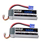HRB 2pack 3S 11.1V 5000mAh LiPo Battery 50C With EC5 Plug for RC Plane Traxxas Monster Truck