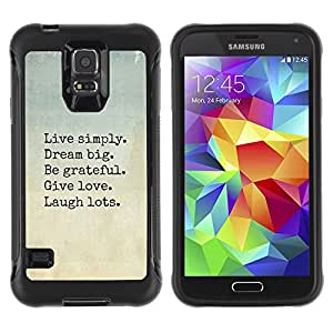 SHIMIN CAO@ Live Dream Love Laugh Motivational Rugged Hybrid Armor Slim Protection Case Cover Shell For S5 Case , G9006 Cover Case ,Leather for S5 ,S5 Cover Leather Case ,G9006 Leather Case