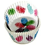 Chef Craft Paper Patterned Cupcake Liners, 50 count, Red/Pink/Blue/Green/Purple