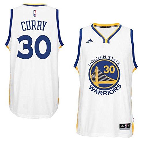 dd89181d5 hot sale Stephen Curry Men s White Golden State Warriors adidas Swingman  Jersey