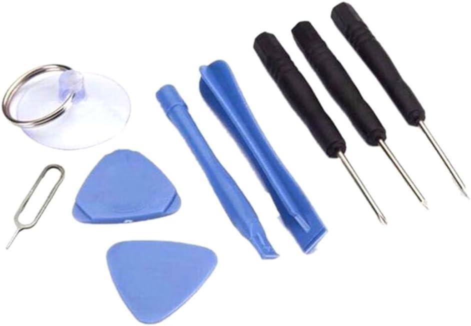 Cewaal Kit de herramientas de reparación universal de 9 piezas, destornillador + extractor de palanca, para iPhone 7 7 Plus 6s 6s Plus 6 6 Plus 5s 5c 5 SE 4 4s iPad iPods, tableta teléfono inteligente
