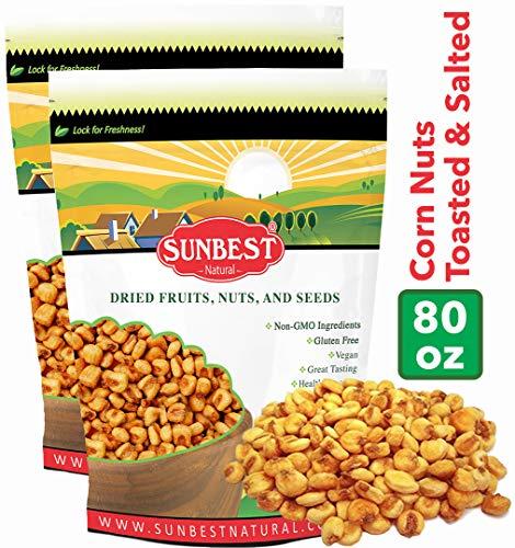 SunBest Corn Nuts Toasted & Salted (Toasted Corn, 5 Lb) (Corn Nuts Roasted)