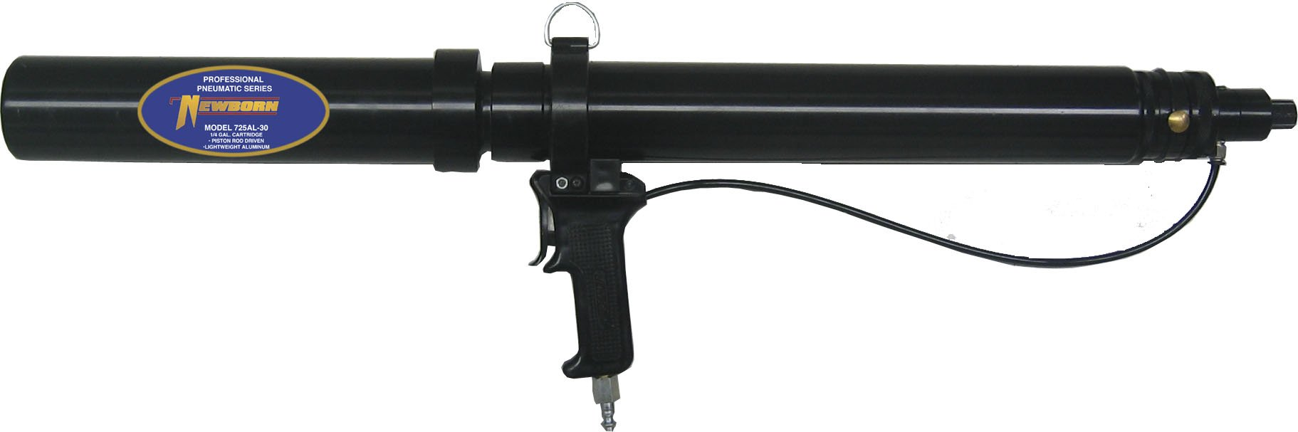 Newborn 725AL-30 Rod Driven Pneumatic Applicator with Lightweight Aluminum Barrel, for 1/4 Gallon Cartridges, 100 psi