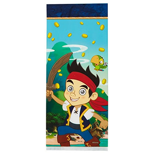 Jake and the Never Land Pirates Cello Treat Bags - 16 Pack