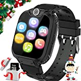 Kids Games Smartwatches for Boys Girls - 1.54' HD Touch Screen Sports Smartwatch Phone with Call Camera Games Recorder Alarm Music Player for Children Days Gifts for Girls 4-7 Years Old (Black)